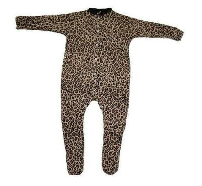 Babywearuk British Made Leopard Print Sleepsuit - 18/24 Months back-315505