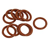 10 Pcs 26mm x 19mm x 3.5mm Red Silicone O Ring Shaft Seals