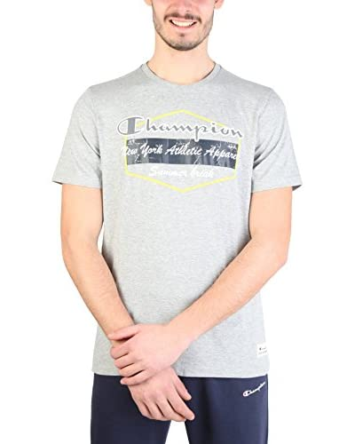 Champion Camiseta Manga Corta Gris Claro
