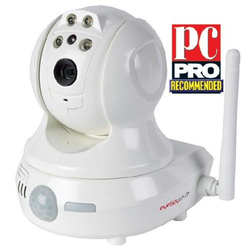 EyeSpy247PTZ Pan, Tilt  &  Zoom Wireless IP Security Camera With Colour Night Vision Plus Auto Set-up System  &  Free NVR Software