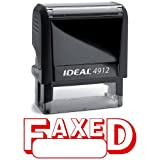 FAXED I Red Office Stock Self-Inking Rubber Stamp