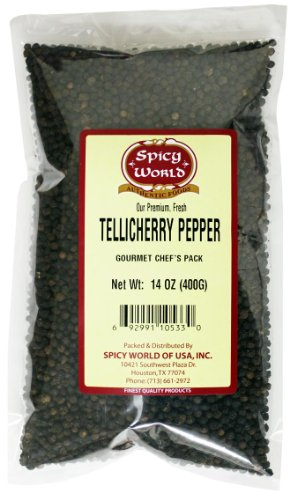 Spicy World Tellicherry Pepper, 14-Ounce Unit