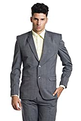 Wintage Men's Wool Two Buttoned Notch Lapel Festive and Casual Blue Blazer