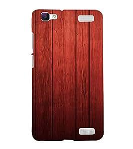 PrintVisa Rich Wood Pattern 3D Hard Polycarbonate Designer Back Case Cover for VivoV1MAX