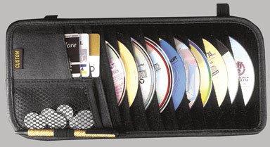 CUSTOM ACCESSORIES 31501 DLX 10 CD VISOR ORGANIZER