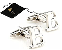 Initial Cufflinks (Alphabet Letter) by Men\'s Collections (B)