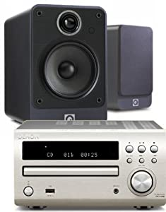 Review and Buying Guide of Cheap Denon RCD-M39DAB (Silver) Micro CD Receiver System with Q Acoustics 2010i Speakers (Graphite Finish). Includes 5 metres Chord Leyline High Performance Speaker Cable