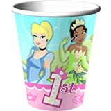 Disney Princess 1st Birthday Cups 8ct