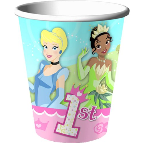 1st Birthday Princess 9 oz Cups - 1