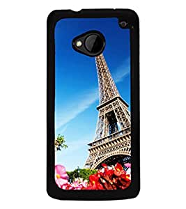 printtech Paris Tower View Back Case Cover for HTC One M7::HTC M7