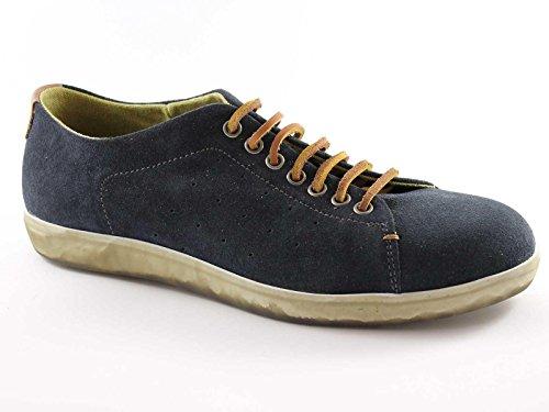 FRAU 26E9 blu scarpe uomo sportive sneaker lacci cuoio