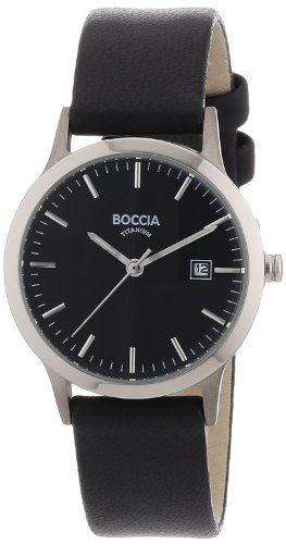 Boccia Ladies Titanium Leather Strap Watch B3180-02