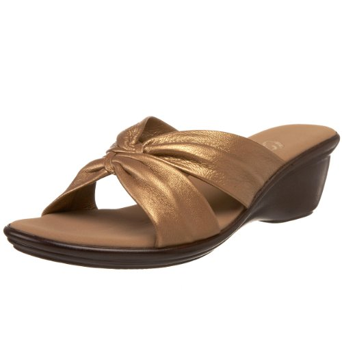 Bronze Wedge Sandals front-1025927