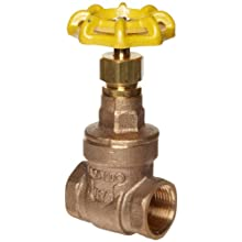 Apollo 102T-LF Series Bronze Gate Valve, Potable Water Service, Class 125, Non-Rising Stem, NPT Female