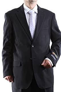Men's Single Breasted Two Button Black Dress Suit