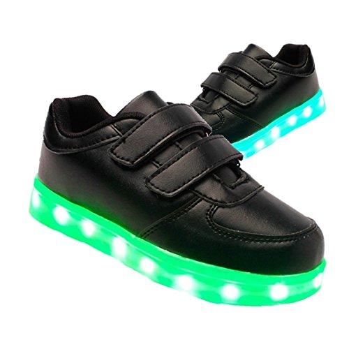 iTurboS-Mini-Nova-Kids-USB-Charging-Light-up-LED-Shoes-Flashing-Sneakers