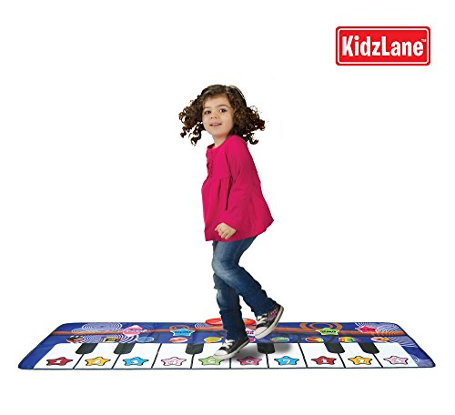 Piano Mat For Kids, 10 Selectable Sounds + Play -Record -Playback -Demo-Mode, Heavy Duty Material, back-124970