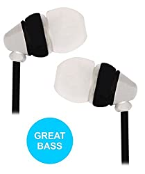 Metallic Finished Ear Buds Earphones Headset with Mic Compatible For Micromax Canvas Win W092 -Silver