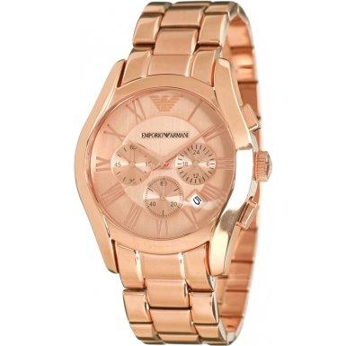 Emporio Armani AR0365 - Reloj , correa de acero inoxidable color oro rosa