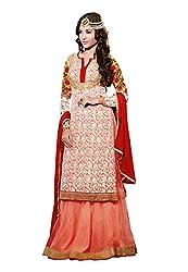 Fabdeal Festive Wear Georgette Semi-Stitched Salwar Suit ( HMJDR7803BTGWS_Pink )