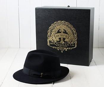 (ボルサリーノ) Borsalino イタリア製 ビーバーフェルト中折れハット 400001 ダークベージュ 61cm 【専用箱付き】中折れ帽 ソフト帽 大きいサイズ メンズ 男性 紳士 帽子