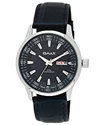 Omax Analog Silver Dial Mens Watch - SS550