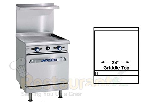 Imperial-Commercial-Restaurant-Range-24-Griddle-With-Standard-Oven-Natural-Gas-Model-Ir-G24