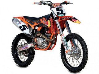 RYAN DUNGEY KTM RED BULL 450 SX-F 1/10 SCALE REPLICA MOTORCYCLE (Die Cast Dungey Red Bull compare prices)