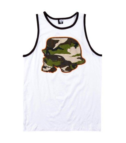 Metal Mulisha - Mens Undercover Tank Top, Size: Medium, Color: Optic White