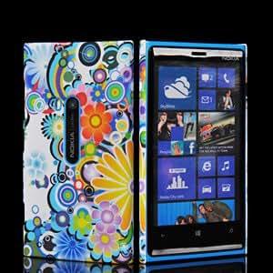 Bingsale Coque de protection rigide pour Nokia Lumia 920 Fleurs multicolores