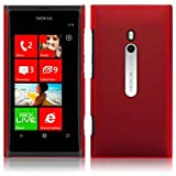 NOKIA LUMIA 800 RUBBERISED TRANSPARENT ONE-PIECE SNAP CASE / COVER / SHELL / SHIELD - REDby TERRAPIN