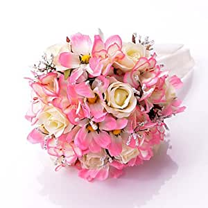 BuW Wedding Flowers Round Roses Bouquets