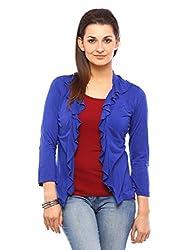Vvoguish Corporate Wear Blue Shrugs-VVFSH191RBLU-M