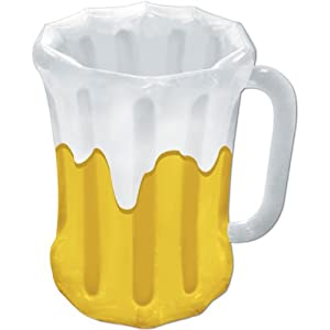 Inflatable Beer Mug Cooler (holds apprx 48 12-Oz cans) Party Accessory  (1 count) (1/Pkg)