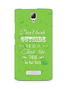 Amez Dont think Outside the Box think like there is no Box Back Cover For Lenovo A2010