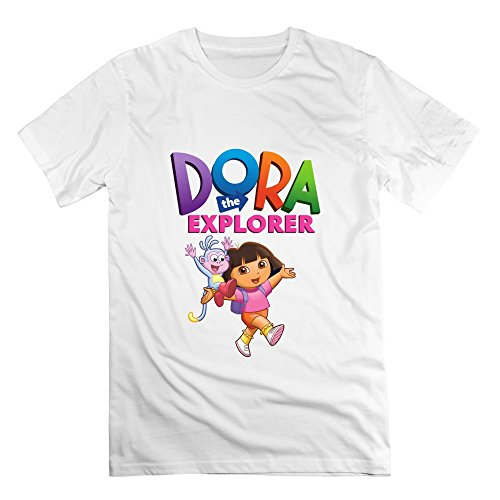 [Seico Men Dora The Explorer Boots Shirt White Size XXL] (Swiper Costumes For Adults)