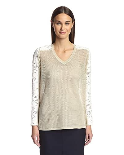 Magaschoni Women's V-Neck Sweater