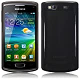 Smoke Black Tpu Gel Case Cover For Samsung Wave 3 S8600 PART OF THE QUBITS ACCESSORIES RANGEby TERRAPIN