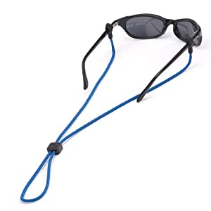 Chums Slip Fit 3mm Rope Eyewear Retainer, Black