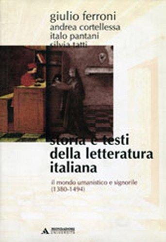 Storia e testi della letteratura italiana: 3