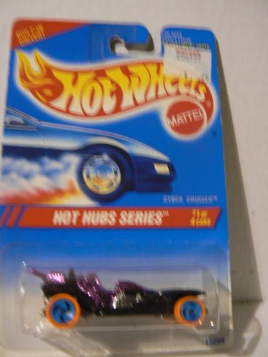 "Hot Wheels Hot Hubs Series #1 of 4 Cars Cyber Cruiser on ""Built-in Driver"" Card Variant"