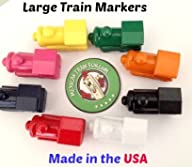 Mexican Train Fun Large Domino Markers – Made in the USA (Set of 8)