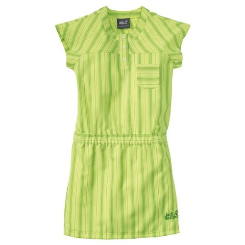 Jack Wolfskin GIRLS AIRY SUMMER DRESS fresh lemon stripes