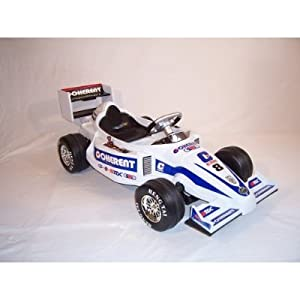 Formula 1 Grand Prix Ride on kids 12v Electric Battery Powered Toy Racing Car in White.