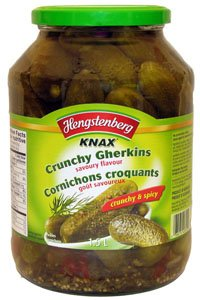 Hengstenberg, Pickle Gherkin Knax Lrg, 57.5 OZ (Pack of 6) (Knax Pickles compare prices)