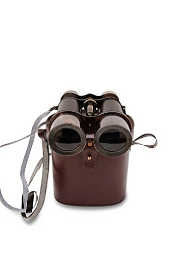 Antique Black Binocular VINTAGE Nautical Marine Spyglass Brass Binocular/Telescope with Leather case ANTIQUES 2