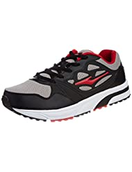 Erke Men's  Black And Red Mesh Nordic Walking Shoes - 6.5 UK