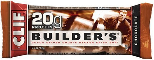 Clif Bar Builder's Bar, Chocolate, 2.4-Ounce Bars, Pack of 12
