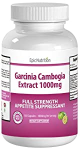 38% OFF - Epic Nutrition Garcinia Cambogia Extract - 100% Pure Garcinia Cambogia Dietary Weight Loss Supplements for Appeitite Suppressing and Fat Blocking - Garcinia Cambogia 1000mg per serving with Active Ingredient HCA