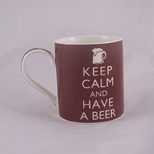 Keep Calm and Have A Beer Fine China Mug - Boxed mug